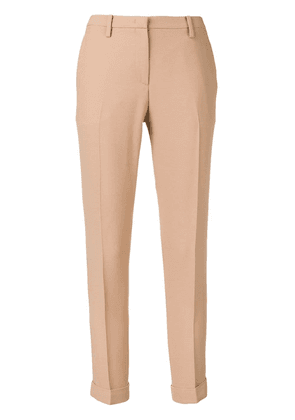 No21 cropped skinny fit trousers - Neutrals