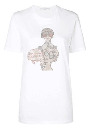 Ermanno Scervino embellished short-sleeve T-shirt - White
