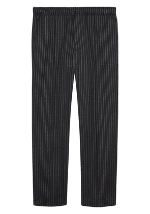 Gucci pinstripe jogging trousers - Grey