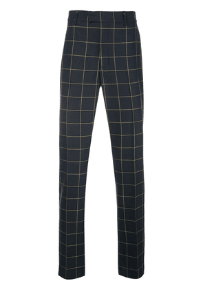 Calvin Klein 205W39nyc checked tailored trousers - Blue