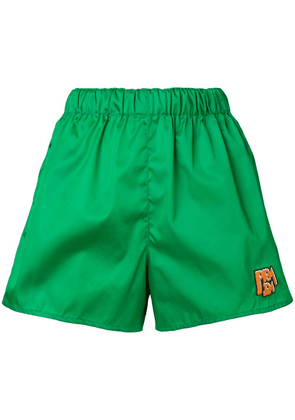 Prada logo patch shorts - Green