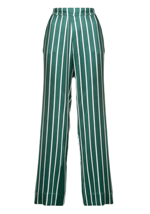 Asceno striped straight trousers - Green