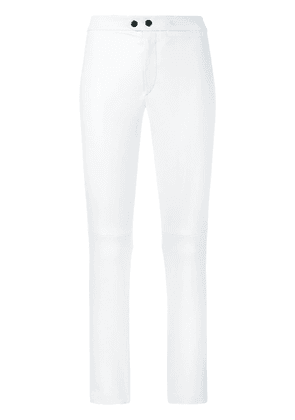 Isabel Marant skinny cropped leather trousers - White