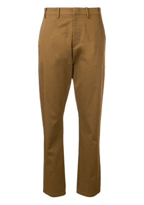 No21 slim-fit tailored trousers - Brown