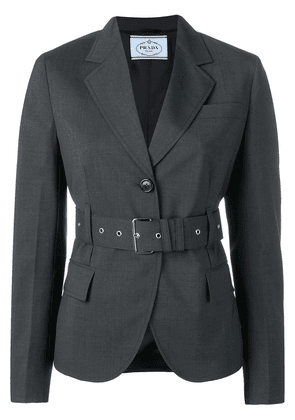 Prada belted single-breasted blazer - Grey