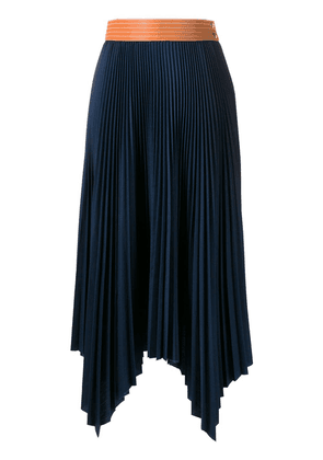 Loewe pleated maxi skirt - Blue