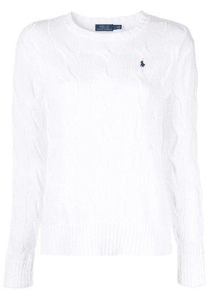 Polo Ralph Lauren fitted knit sweater - White
