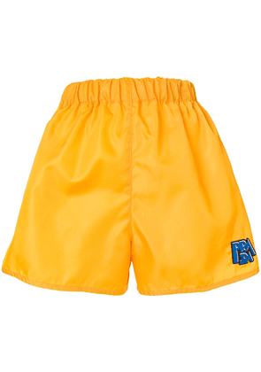 Prada logo shorts - Yellow