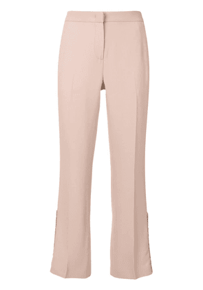 No21 ruffle detail cropped trousers - Pink