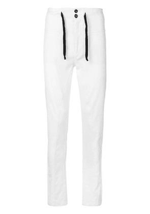 Ann Demeulemeester slim fit trousers - White