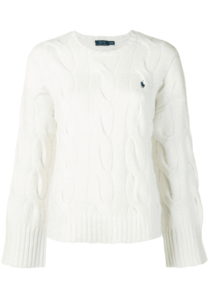 Polo Ralph Lauren wide sleeve cable knit sweater - White