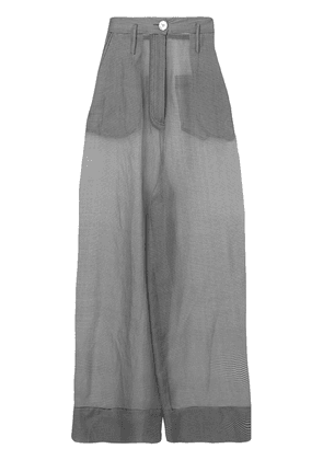 Erika Cavallini sheer construction flare trousers - Grey