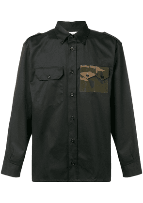 Gosha Rubchinskiy camo pocket military shirt - Black