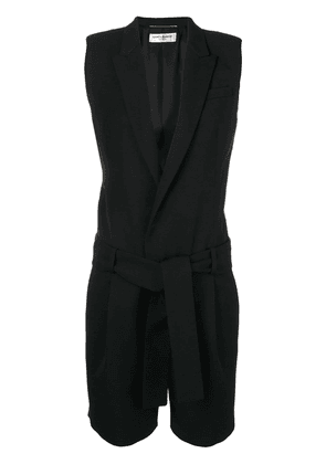 Saint Laurent sleeveless playsuit - Black
