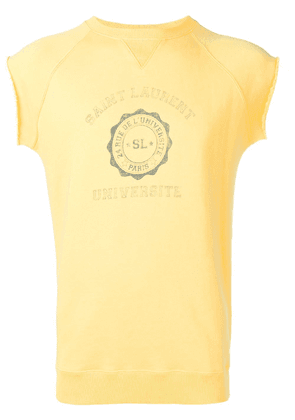 Saint Laurent University sleeveless sweatshirt - Yellow