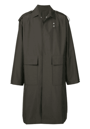 E. Tautz military style long coat - Green
