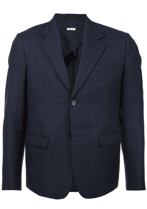 Marni checked suit jacket - Blue