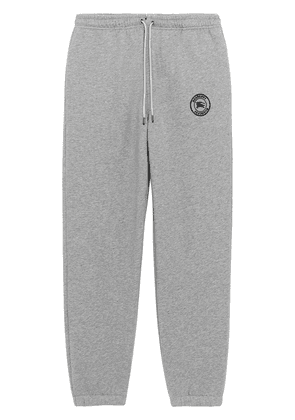 Burberry Embroidered Logo Jersey Trackpants - Grey