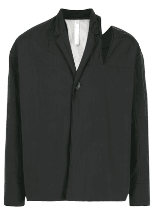 Cottweiler cut-out shoulder jacket - Black