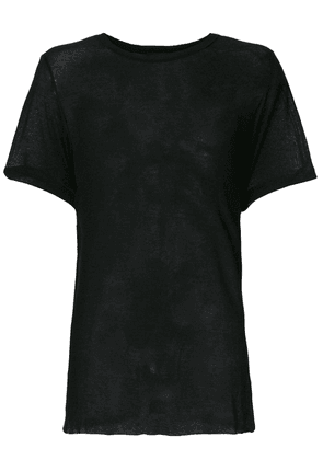 Ann Demeulemeester sheer T-shirt - Black