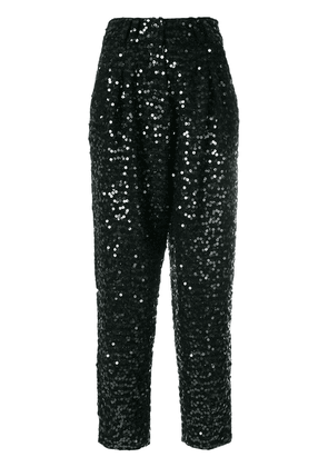 Balmain sequin embellished trousers - Black