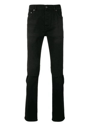Valentino stitch detailed skinny jeans - Black