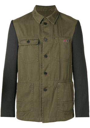 Lanvin contrast fitted jacket - Green
