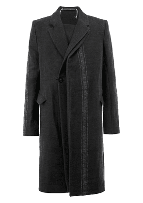 Cedric Jacquemyn oversized asymmetric coat - Black