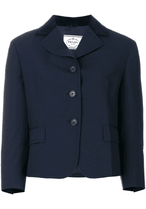 Prada elbow patch jacket - Blue