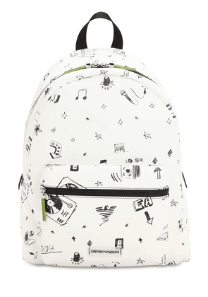 Printed Faux Leather Backpack