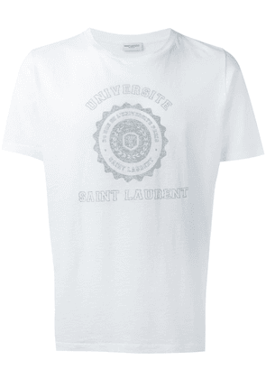 Saint Laurent Saint Laurent Université T-shirt - White