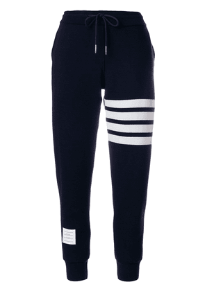 Thom Browne Double-faced Cashmere Sweatpants - Blue
