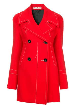 Marni distressed style jacket - Red