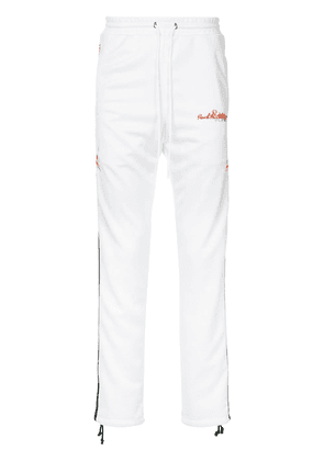 Doublet side embroidered track trousers - White