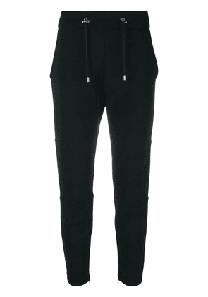 Balmain cropped skinny trousers - Black
