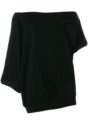 Ioana Ciolacu off-the-shoulder sweatshirt - Black