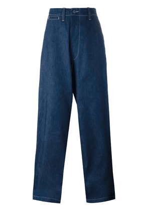 E. Tautz 'Field' wide leg jeans - Blue