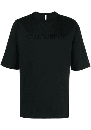 Cottweiler logo print T-shirt - Black