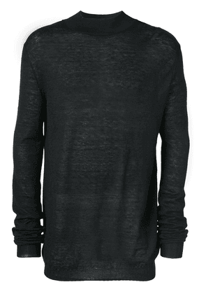 Ann Demeulemeester ribbed neck jumper - Black