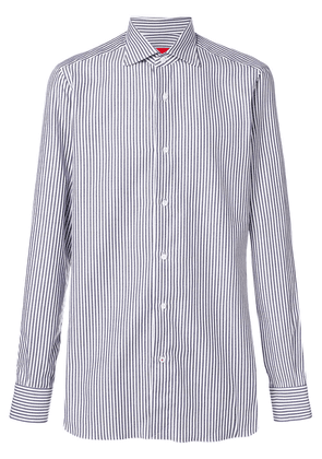 Isaia striped classic shirt - Blue