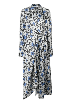 Christian Wijnants oversized floral print shirt dress - Grey