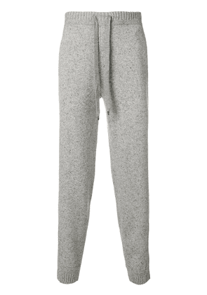 Pringle Of Scotland ribbed trim lounge trousers - Grey