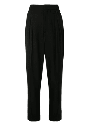 Isabel Marant cropped high-waist trousers - Black