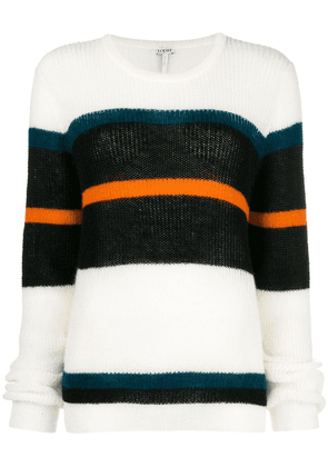 Loewe striped slouchy sweater - White