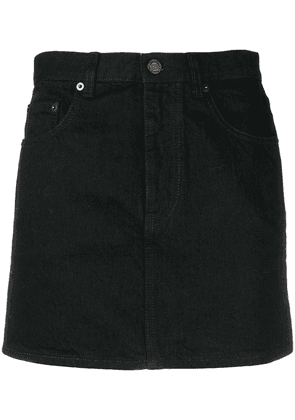 Saint Laurent fitted denim skirt - Black