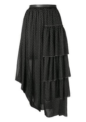 Loewe midi pleated skirt - Black