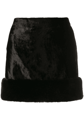 Saint Laurent faux fur mini skirt - Black