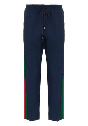 Gucci GG web tailored track pants - Blue