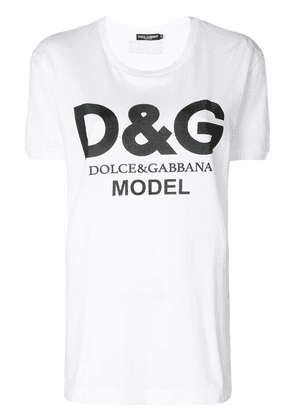 Dolce & Gabbana Model logo T-shirt - White