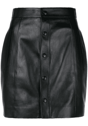 Saint Laurent fitted buttoned up skirt - Black